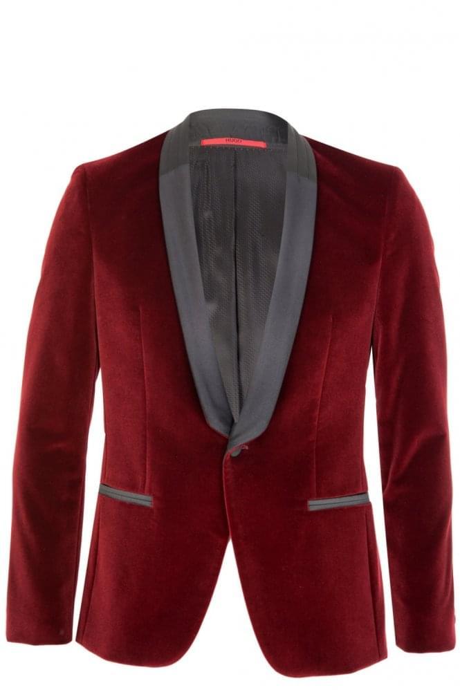 Hugo Boss Arian Red Velvet Blazer
