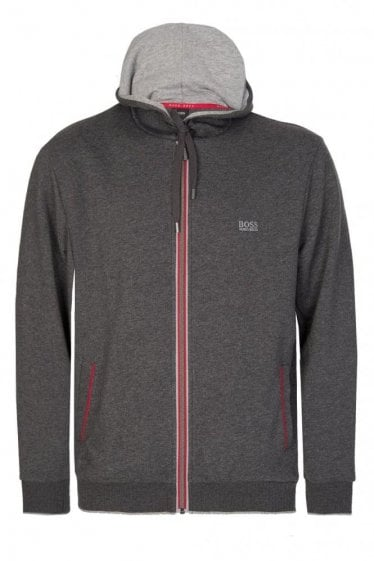 Hugo Boss Authentic Zip Hoodie Grey