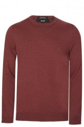 Hugo Boss Bagritte-B Knitted Jumper Burgundy