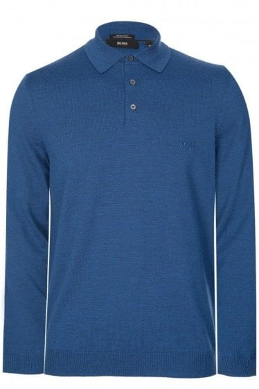 Hugo Boss Banet-B Knitted Polo Blue