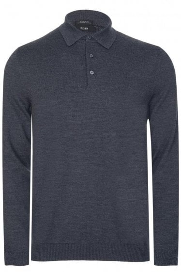 Hugo Boss Banet-B Knitted Polo Charcoal