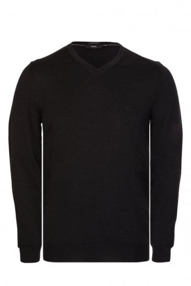 Hugo Boss Baram L Knitted V-Neck Jumper