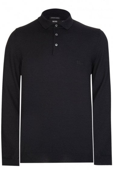 Hugo Boss Bono-L Knitted Polo Black