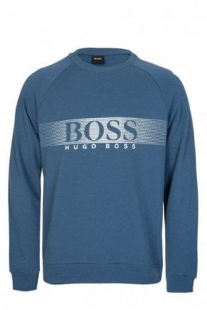 Hugo Boss Cotton Sweatshirt Blue