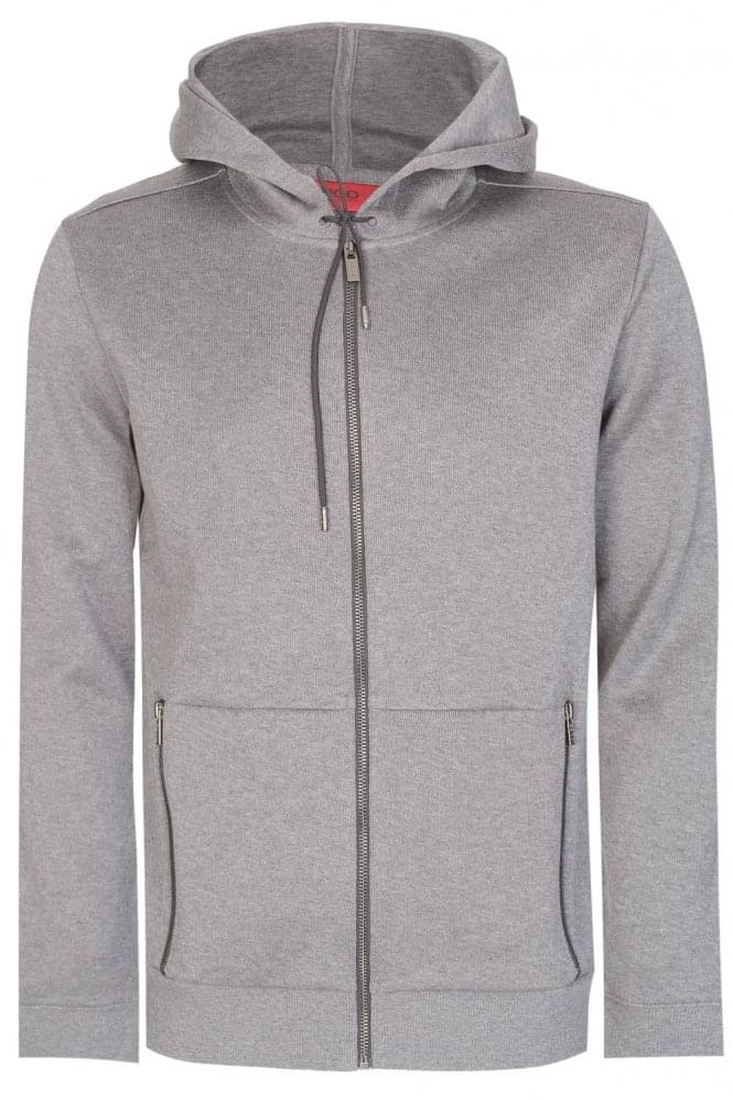 HUGO by HUGO BOSS Hugo Boss Dampton Zip Hoodie Grey