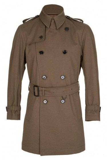 Hugo Boss Dan1 Trench Coat Stone