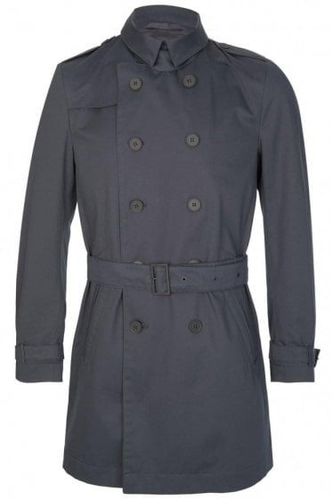 Hugo Boss Dan2 Trench Coat Navy