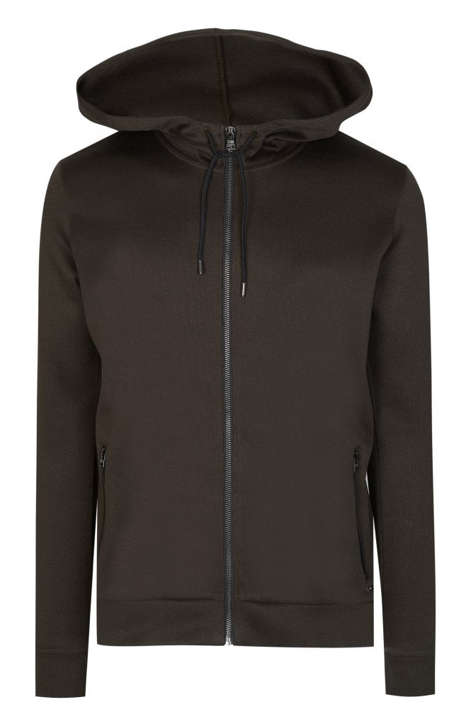 Hugo Boss Debasti Zip-down Hooded Sweatshirt thumbnail