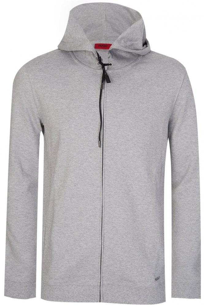 Hugo Boss Delinger Zip Up Sweatshirt Grey