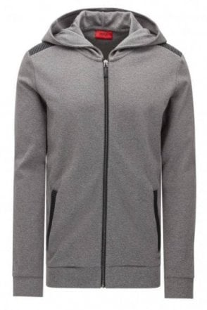 Hugo Boss Dellagio Hooded Jacket Grey