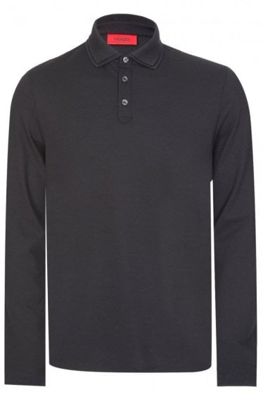 Hugo Boss Dirage Long Sleeved Polo Black
