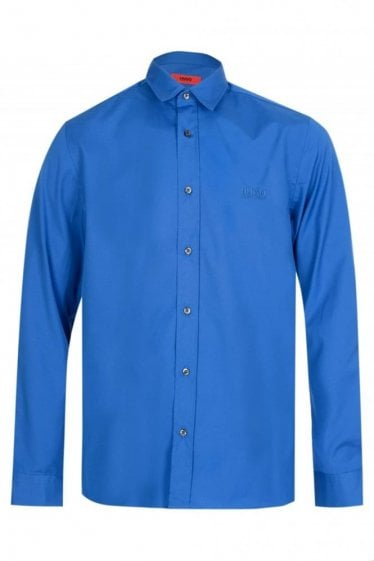 Hugo Boss Evory Logo Shirt Blue