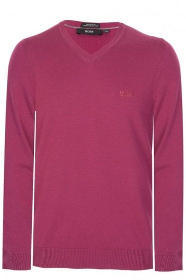 Hugo Boss Filipp-1 Knitted Jumper Purple