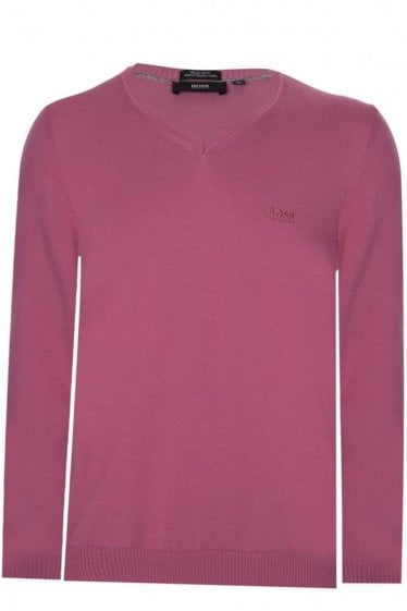 Hugo Boss Filipp-O Knitted Jumper Pink
