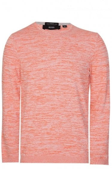 Hugo Boss Fines-O Slim Fit Knitted Jumper Coral Pink