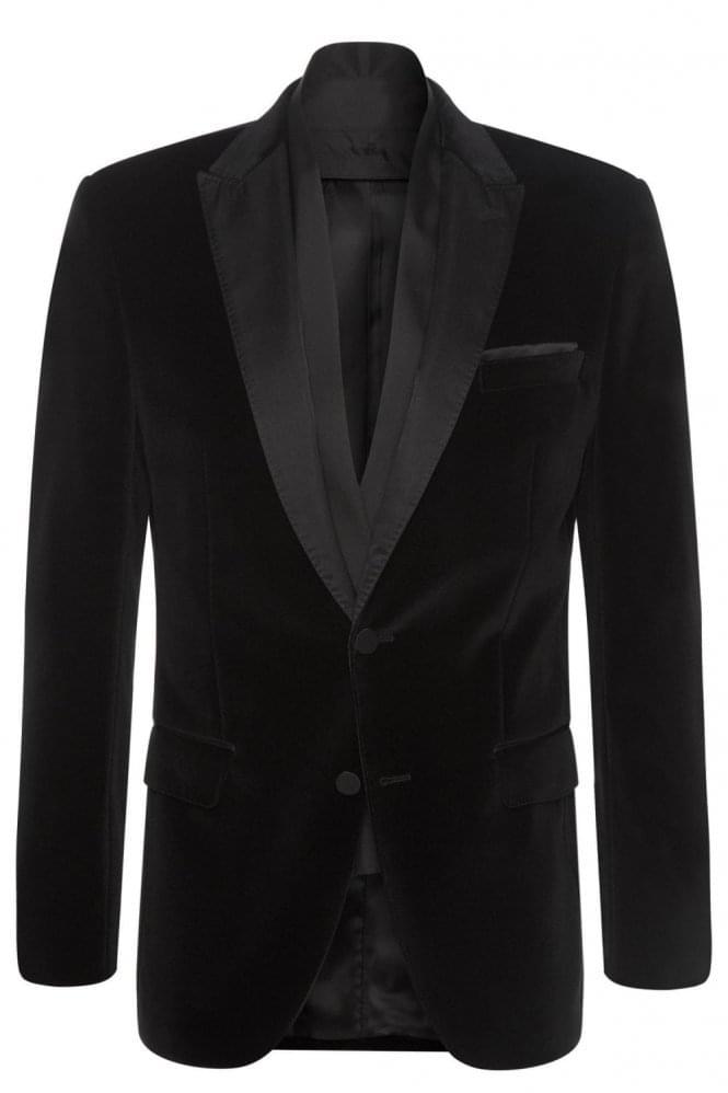Hugo Boss Havit Velvet Blazer Black