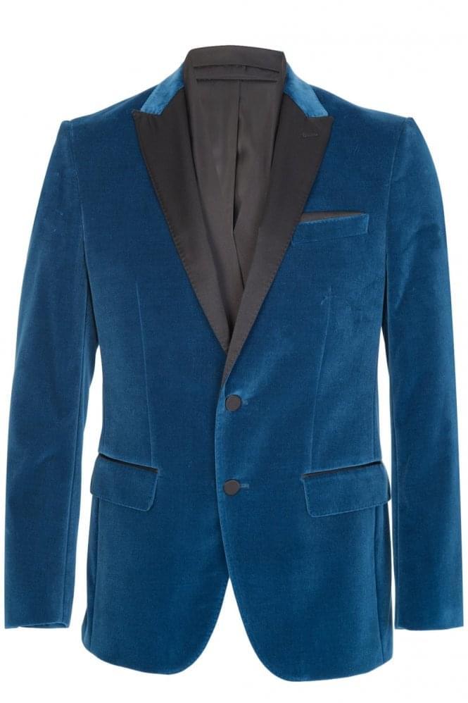 Hugo Boss Havit Velvet Blazer Blue
