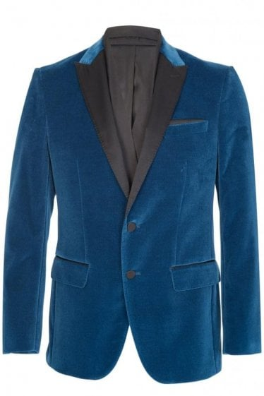 Hugo Boss Havit Velvet Blazer Blue