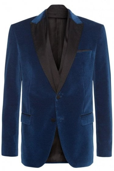 Hugo Boss Havit Velvet Blazer Navy