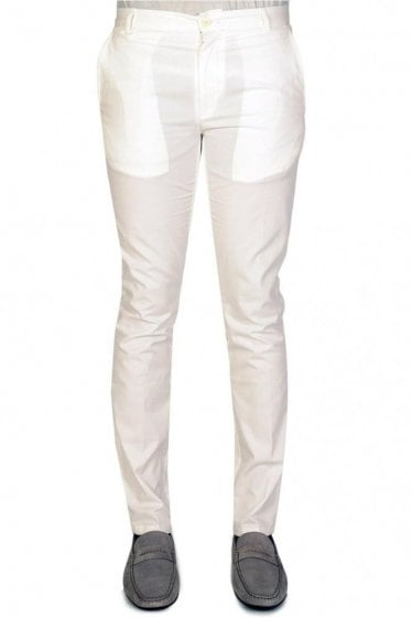 Hugo Boss Heldor2 White Trousers