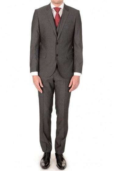 Hugo Boss Huge3/Genius WE 3 Piece Suit Charcoal