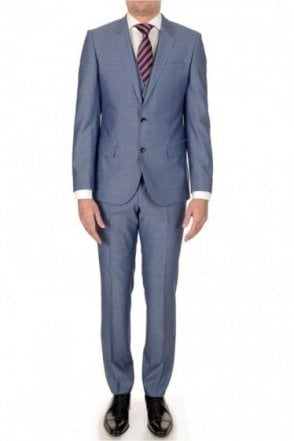 Hugo Boss Huge3/Genius2 3 Piece Suit Blue