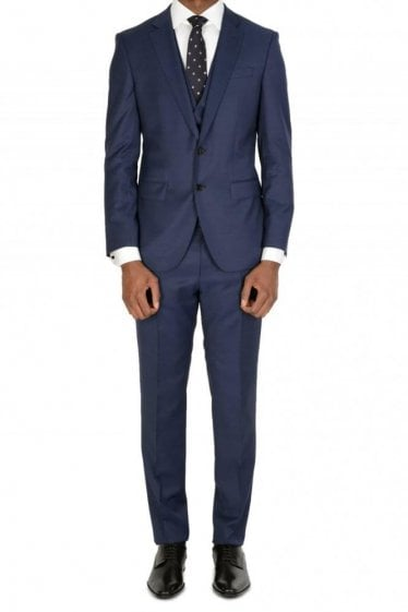 Hugo Boss Huge6/Genius5 Three Piece Suit Navy