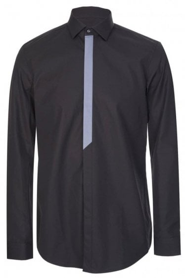 Hugo Boss Icarus Slim Fit Cotton Shirt Black