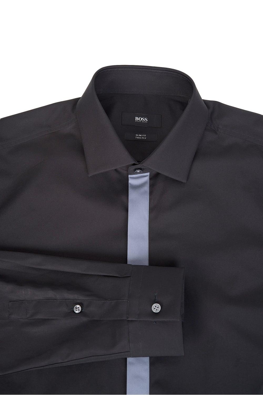 6e0aa3b18 Hugo Boss Icarus Slim Fit Cotton Shirt Black