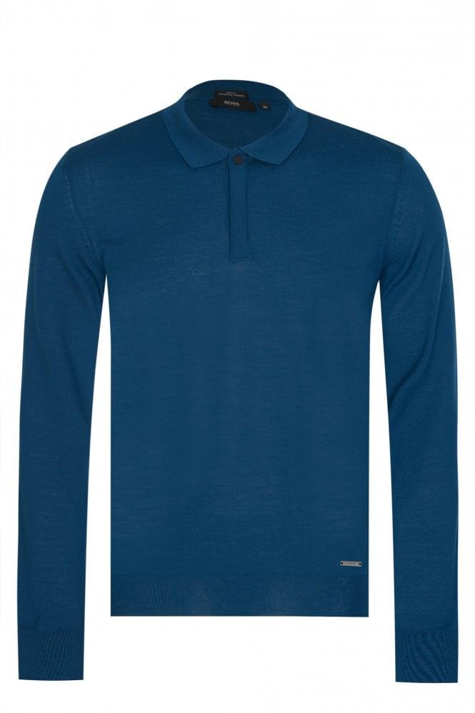 Hugo Boss Iden Knitted Polo Aqua