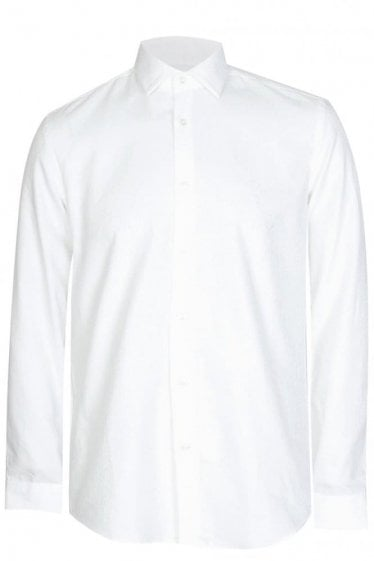 Hugo Boss Iseo 2 Slim Fit Cotton Shirt White