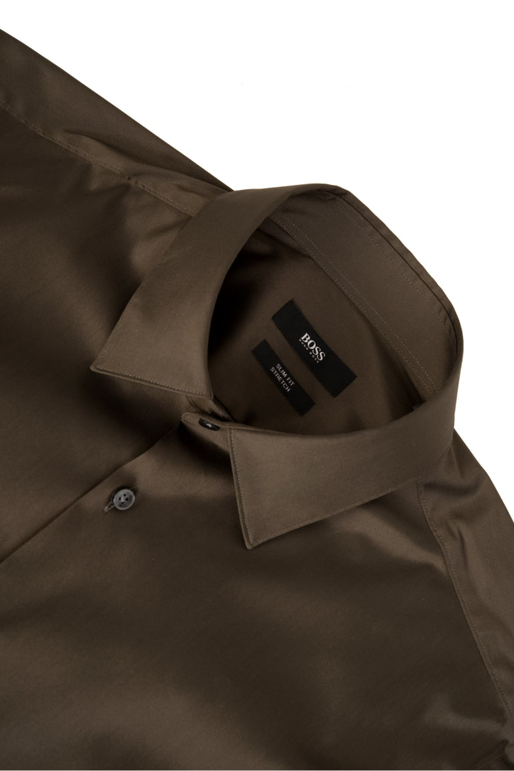 11593d44 Hugo Boss Isko Slim Fit Stretch Cotton Shirt Khaki
