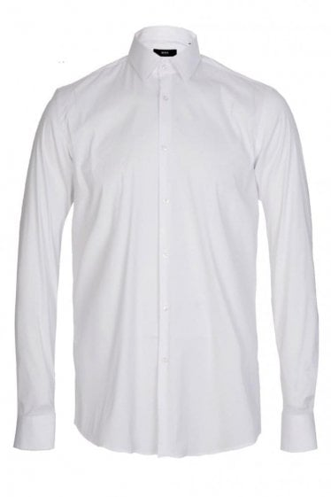 Hugo Boss Isko Slim Fit Stretch Cotton Shirt White