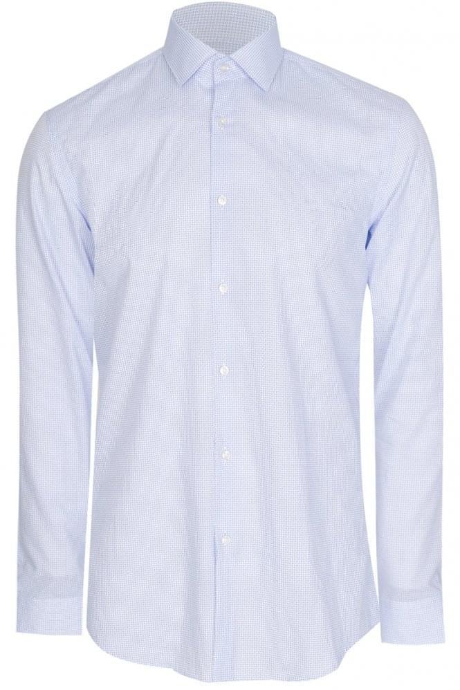 Hugo Boss Ismo Slim Fit Cotton Shirt Blue