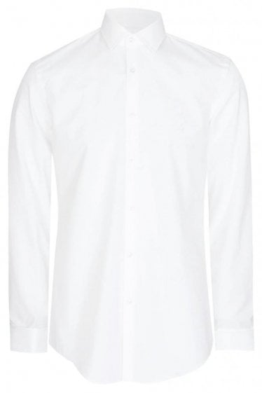 Hugo Boss Jacques Slim Fit Cotton Shirt White