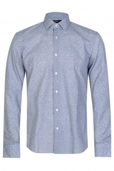 Hugo Boss Jenno Floral Shirt Blue