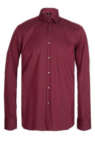 Hugo Boss Jenno Slim Fit Cotton Shirt Red