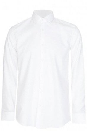 Hugo Boss Jenno Slim Fit Cotton Shirt White