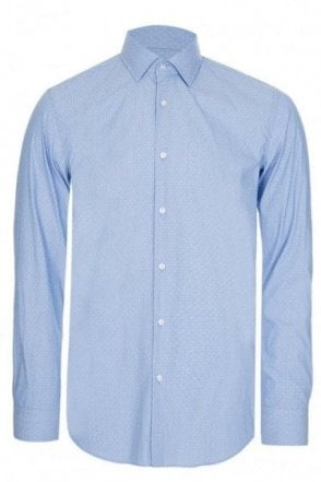 Hugo Boss Jenno Slim Fit Shirt Blue
