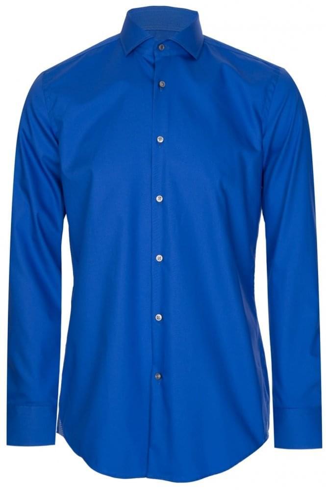 Hugo Boss Jerrin Slim Fit Cotton Shirt Blue
