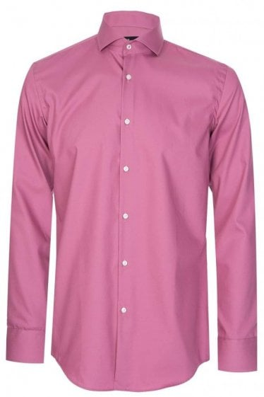 Hugo Boss Jerrin Slim Fit Cotton Shirt Pink