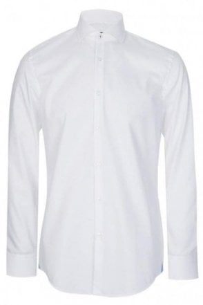 Hugo Boss Jerrin Slim Fit Cotton Shirt White