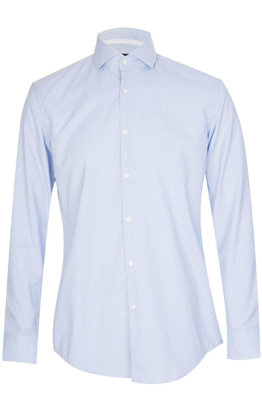 d5e0bcbad Hugo Boss Jery Checked Shirt Blue