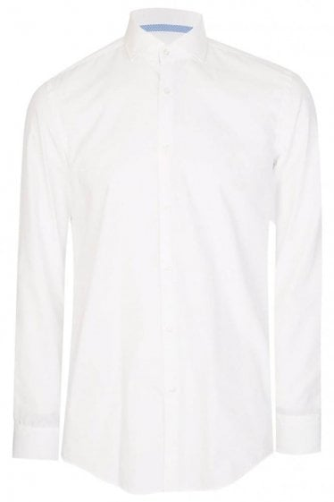 Hugo Boss Jery Slim Fit Shirt White