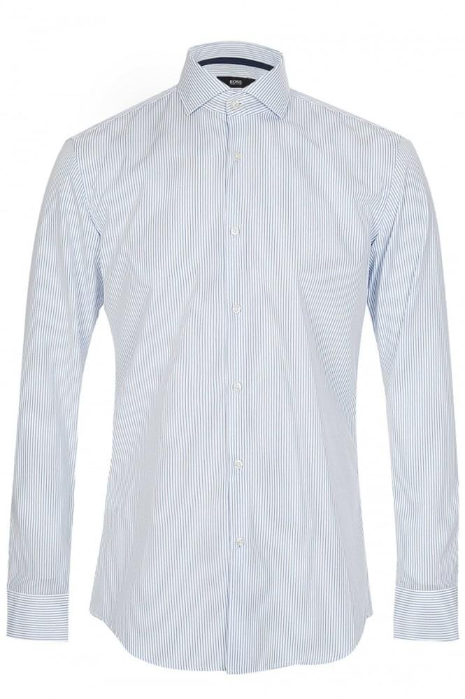 HUGO BOSS 'Jery' Striped Slim Fit Shirt