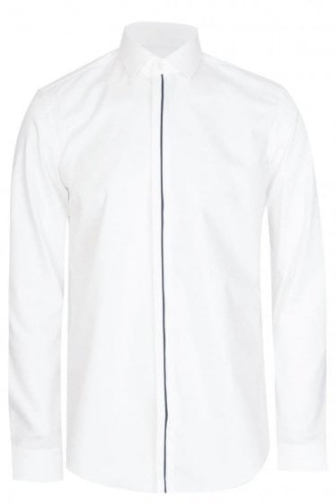 Hugo Boss Josel Slim Fit Cotton Shirt White