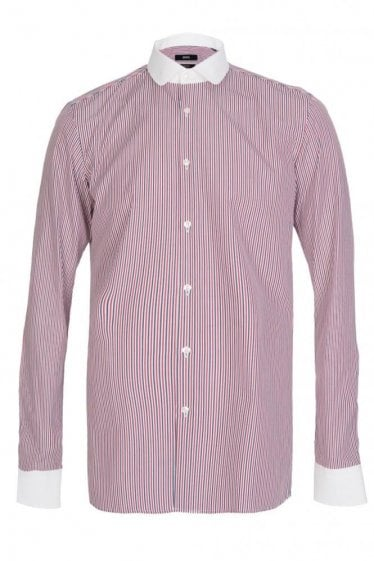 Hugo Boss 'Joshy' Striped Slim Fit Shirt White