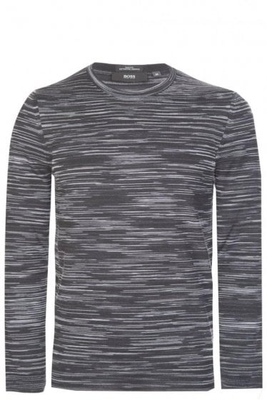 Hugo Boss Knitted Crew Neck Jumper Charcoal