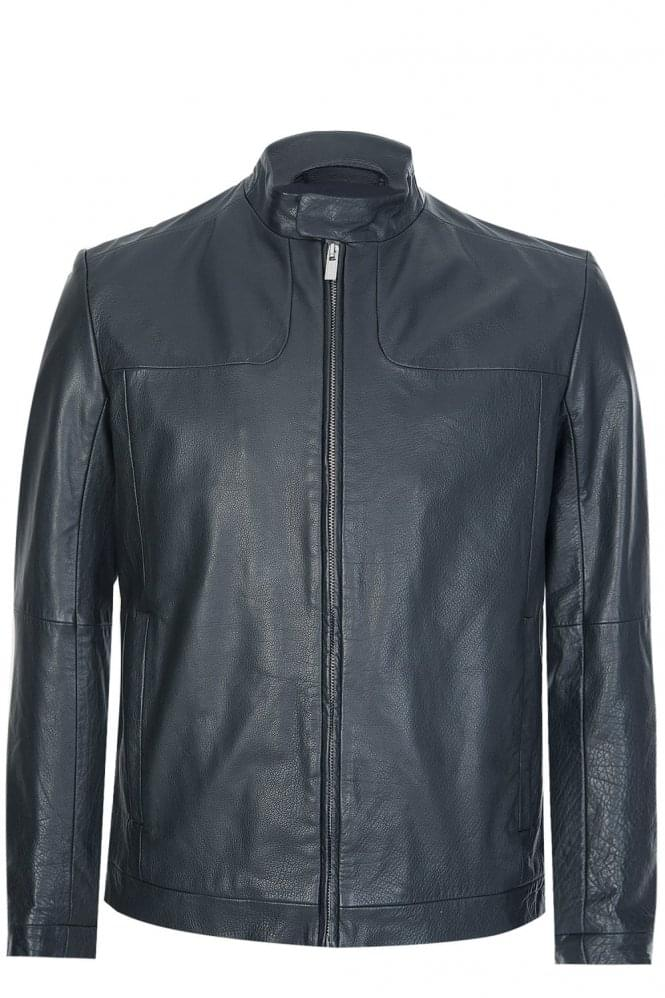 HUGO by HUGO BOSS Hugo Boss 'Lemy' Leather Jacket Black