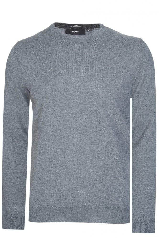 HUGO BOSS Leno B Knitted Jumper Grey